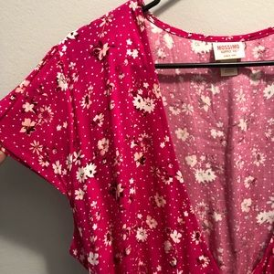 Mossimo size large pink dress floral